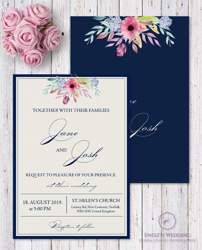 BLUE BELLE INVITATION