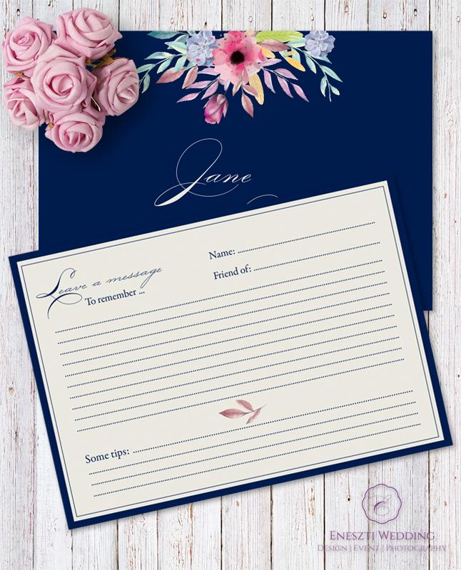 BLUE BELLE MESSAGE CARD