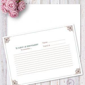 CLEMENTINA MESSAGE CARD