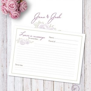 PURPLE ROSE MESSAGE CARD