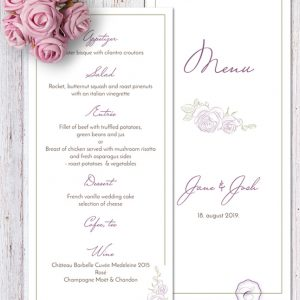 PURPLE ROSE - MENU