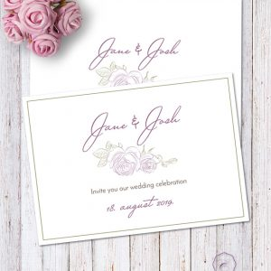 PURPLE ROSE SAVE THE DATE