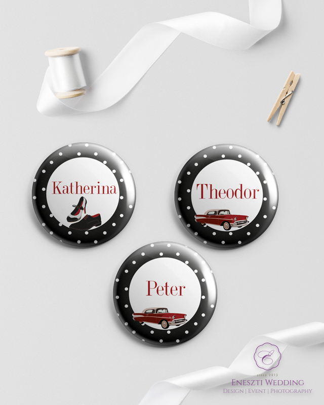 Rockabilly Black Magnet Pin