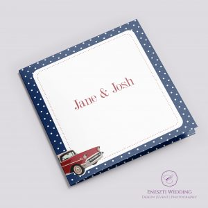 Rockabilly Blue Invitation