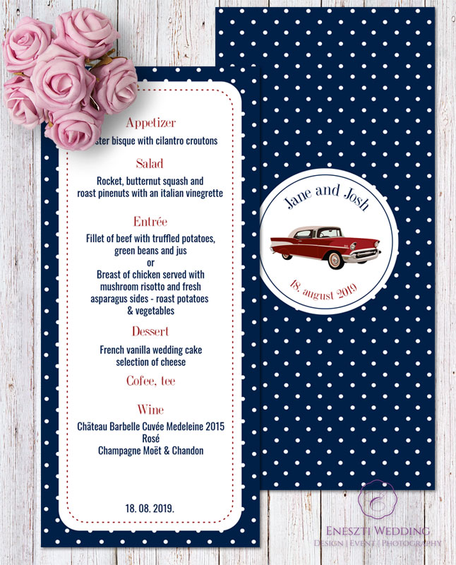 Rockabilly Blue Menu