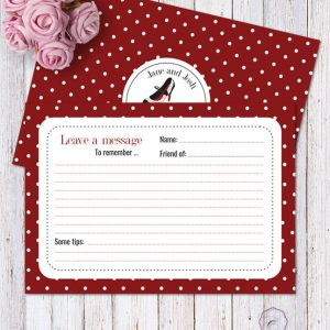 Rockabilly Red Message Card