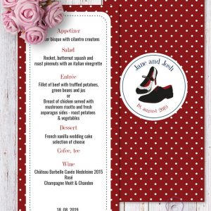 Rockabilly Red Menu