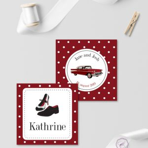 Rockabilly Red Place Cards