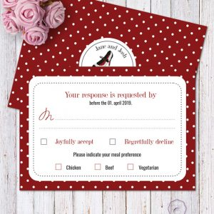 Rockabilly Red RSVP